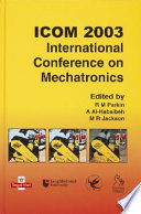 Icom 2003 International Conference On Mechatronics Book PDF