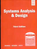 SYSTEM ANALYSIS AND DESIGN  3RD ED