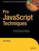 Pdf Pro JavaScript Techniques Telecharger