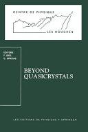 Beyond Quasicrystals Book