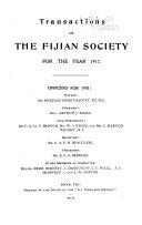 Pdf Transactions of the Fijian Society