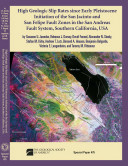 High Geologic Slip Rates Since Early Pleistocene Initiation of the San Jacinto and San Felipe Fault Zones in the San Andreas Fault System  Southern California  USA