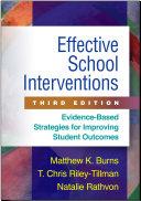 Effective School Interventions  Third Edition