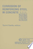Corrosion of Reinforcing Steel in Concrete