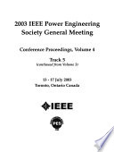 2003 IEEE Power Engineering Society General Meeting