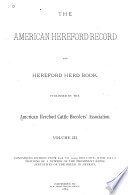 American Hereford Record and Hereford Herd Book Book