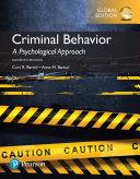 Criminal Behavior  A Psychological Approach  Global Edition