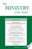 The Ministry Of The Word Vol 23 No 12