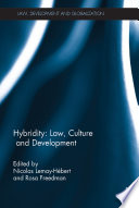 Hybridity Law Culture And Development