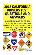 2018 California Drivers Test Questions and Answers
