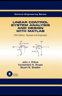 Linear Control System Analysis and Design