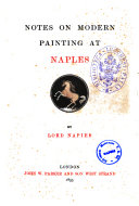 Notes on Modern Painting at Naples