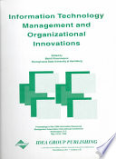 Information Technology Management And Organizational Innovations Book PDF