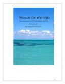 Pdf Words of Wisdom (Volume 17) Telecharger