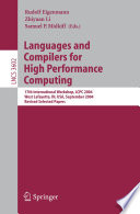Languages and Compilers for High Performance Computing