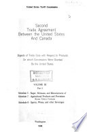 Second Trade Agreement Between the United States and Canada