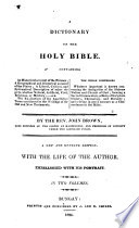 A Dictionary Of The Holy Bible