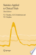 Statistics Applied To Clinical Trials Book PDF