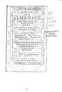 An Almanack For The Year Of Our Lord 1660