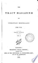 The Tract Magazine  Or  Christian Miscellany