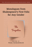Monologues From Shakespeare S First Folio For Any Gender