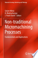 Non traditional Micromachining Processes
