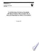 Cape Hatteras National Seashore  Off road Vehicle Management Plan