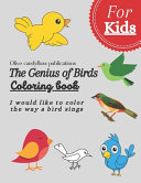 The genius of birds coloring book for kids