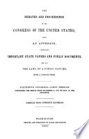 The Debates and Proceedings in the Congress of the United States Book