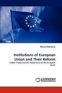 Institutions of European Union and Their Reform