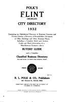 Flint  Michigan  City Directory
