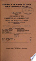 Department of the Interior and Related Agencies Appropriations for 1994: Fish and Wildlife Service