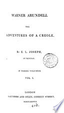 Warner Arundell The Adventures Of A Creole