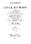 Dictionnaire de la langue française: 2e. ptie: Q-Z