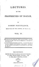 Lectures on the prophecies of Isaiah Book
