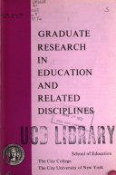 Graduate research in education and related disciplines