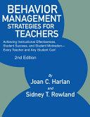 BEHAVIOR MANAGEMENT STRATEGIES FOR TEACHERS