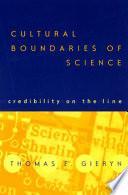 Cultural Boundaries of Science Book