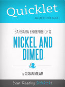 Quicklet On Nickel And Dimed By Barbara Ehrenreich