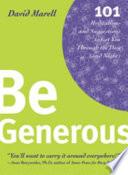 Be Generous Pdf/ePub eBook