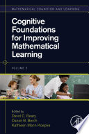 Cognitive Foundations for Improving Mathematical Learning Book
