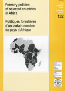 Forestry Policies of Selected Countries in Africa