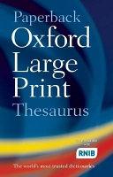Oxford Large Print Thesaurus