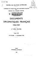 Documents diplomatiques français 1932-1939