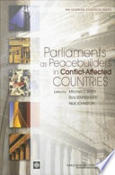 Parliaments As Peacebuilders In Conflict Affected Countries