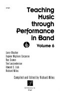 Teaching Music Through Performance In Band Book PDF