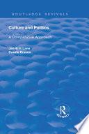 Culture and Politics  A Comparative Approach