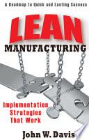 Lean Manufacturing Book