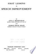 First Lessons in Speech Improvement