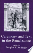 Ceremony and Text in the Renaissance Pdf/ePub eBook